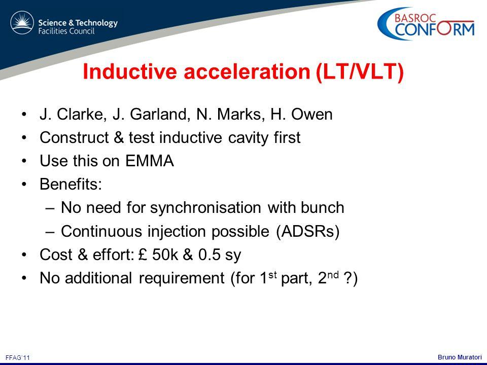 Bruno Muratori FFAG'11 Inductive acceleration (LT/VLT) J.