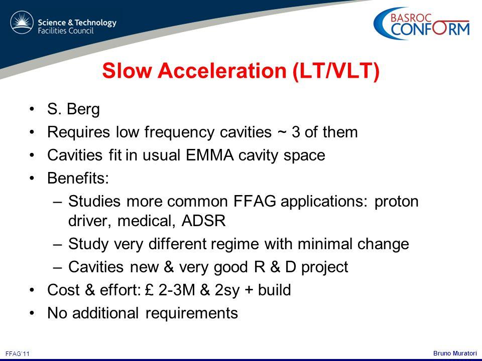 Bruno Muratori FFAG'11 Slow Acceleration (LT/VLT) S.
