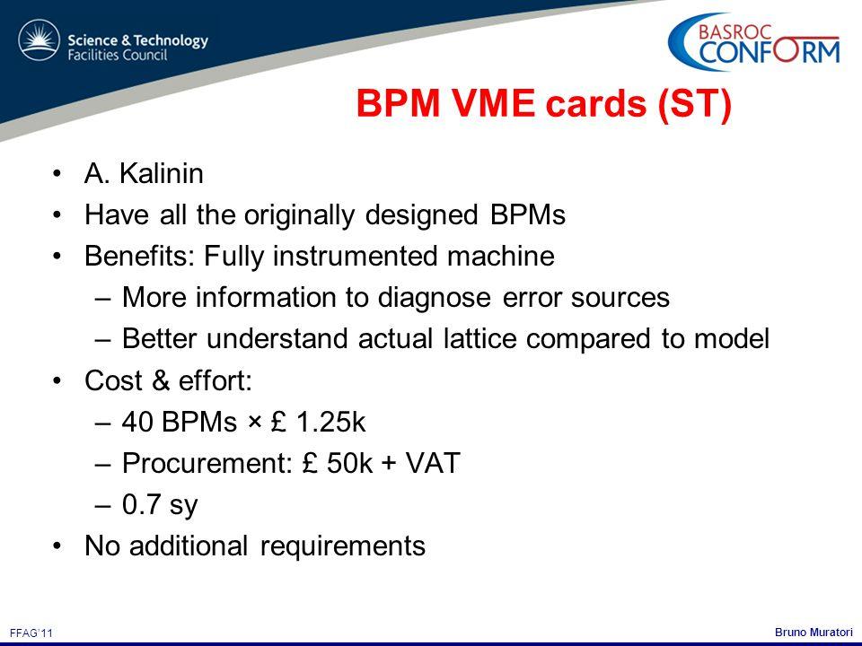 Bruno Muratori FFAG'11 BPM VME cards (ST) A.
