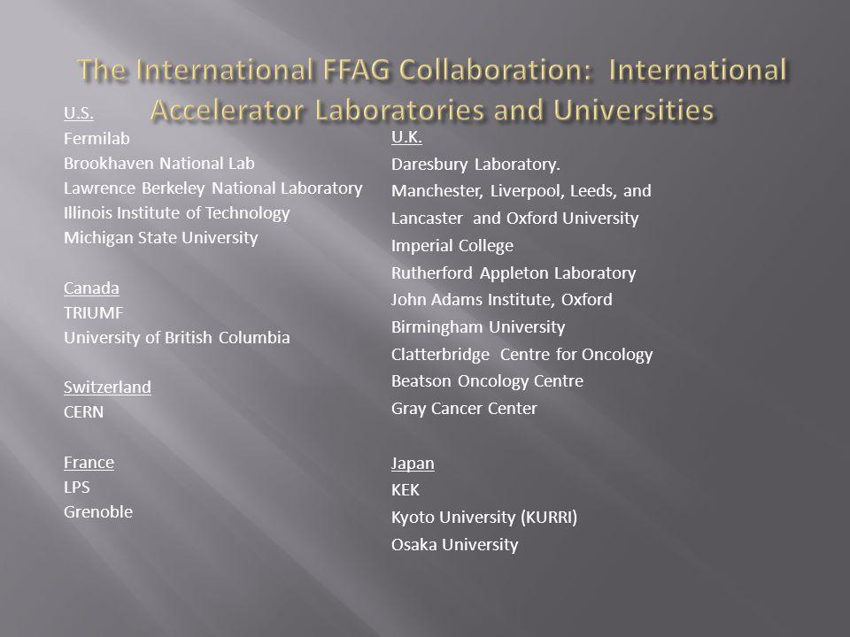 U.S. Fermilab Brookhaven National Lab Lawrence Berkeley National Laboratory Illinois Institute of Technology Michigan State University Canada TRIUMF U
