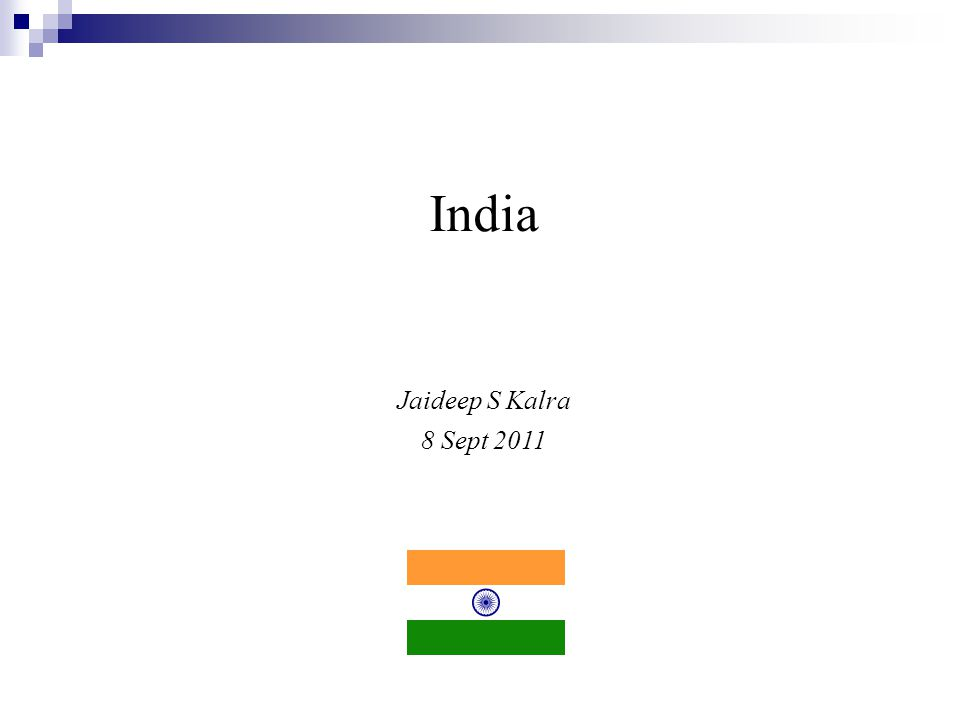 India Jaideep S Kalra 8 Sept 2011