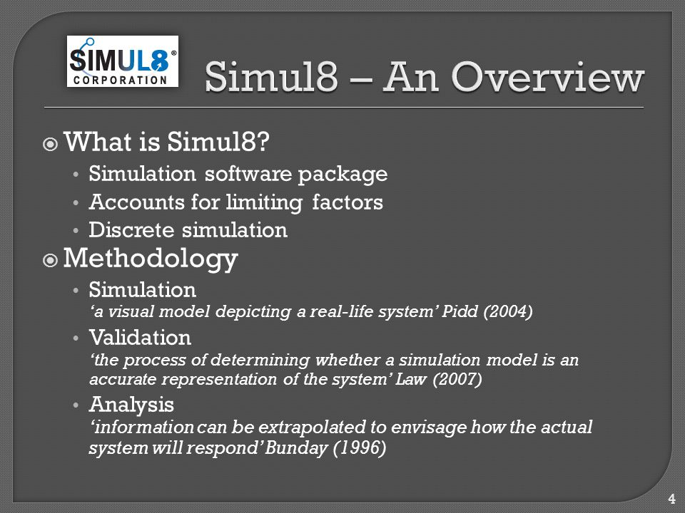  What is Simul8.