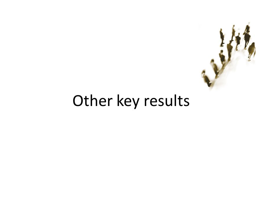 Other key results