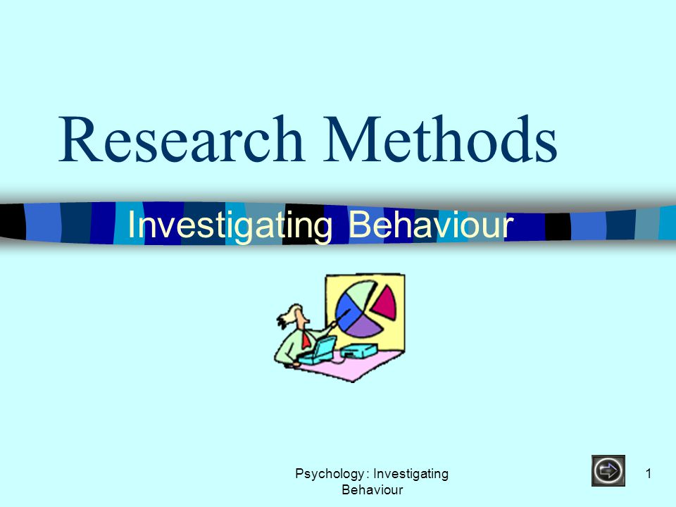 Psychology : Investigating Behaviour 22 Demand Characteristics A term that is used to describe the process that occurs when people know or think they know what the experiment is about or what the experimenter is looking for.