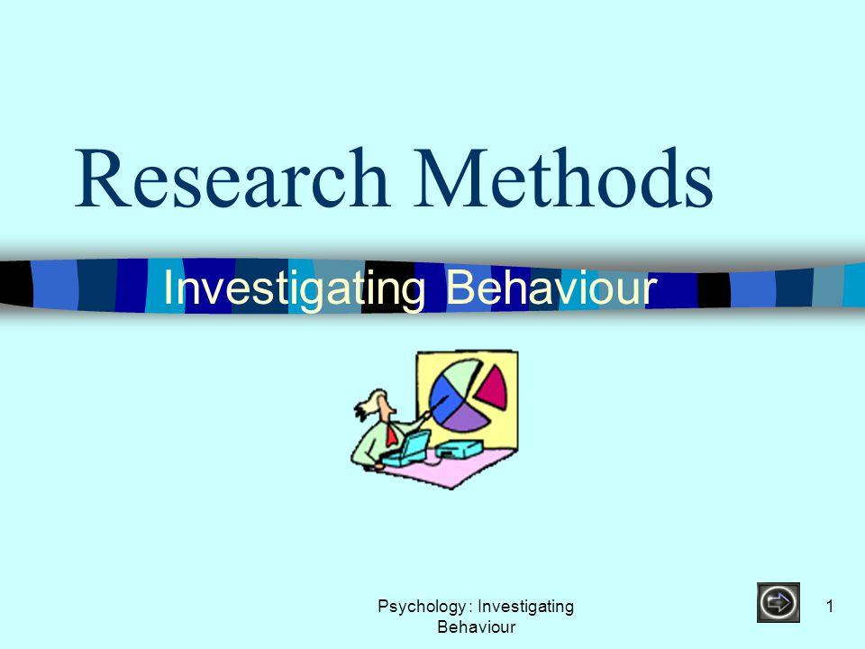 Psychology : Investigating Behaviour 72 Question 11 A survey is ….