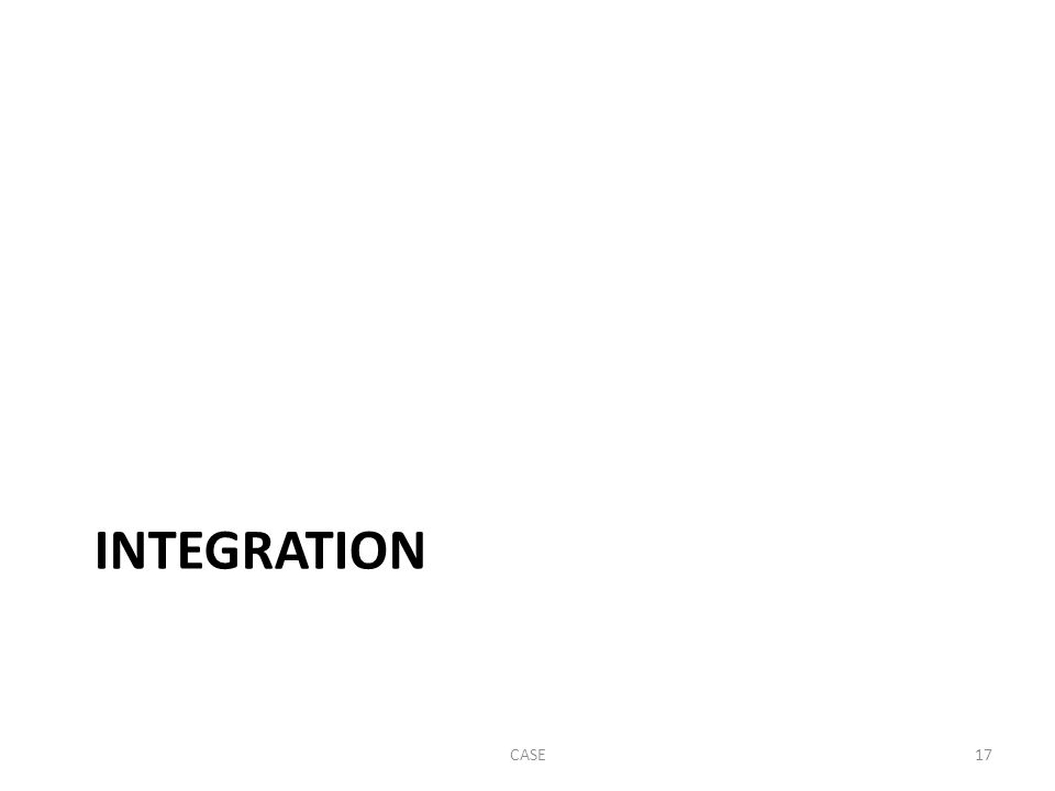 INTEGRATION CASE17