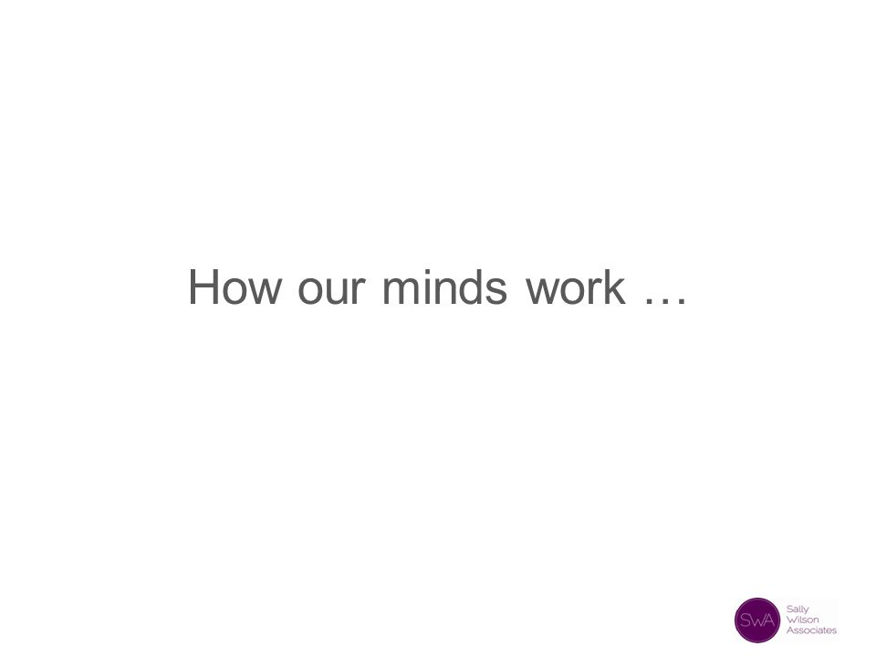 How our minds work …