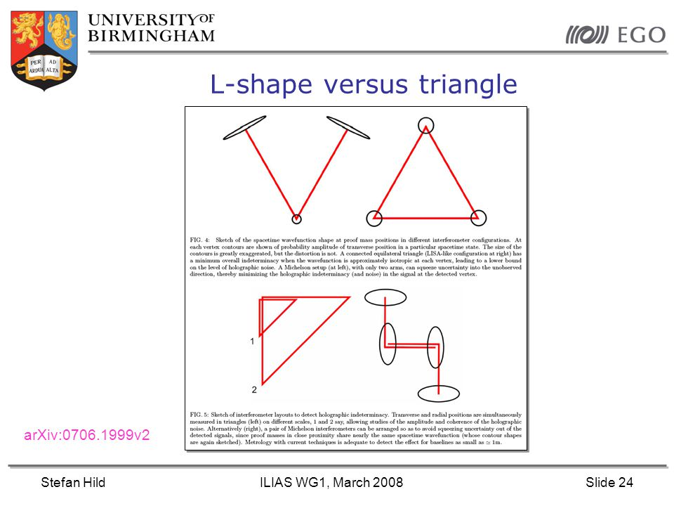 Stefan HildILIAS WG1, March 2008Slide 24 L-shape versus triangle arXiv:0706.1999v2