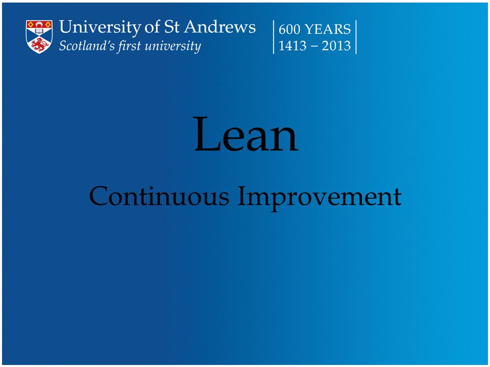 Over the next short while … n What is Lean.–Well, what is it.