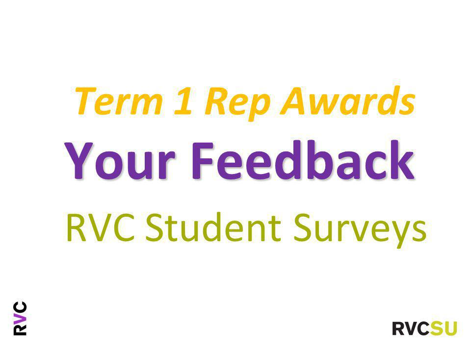 Term 1 Rep Awards Your Feedback RVC Student Surveys