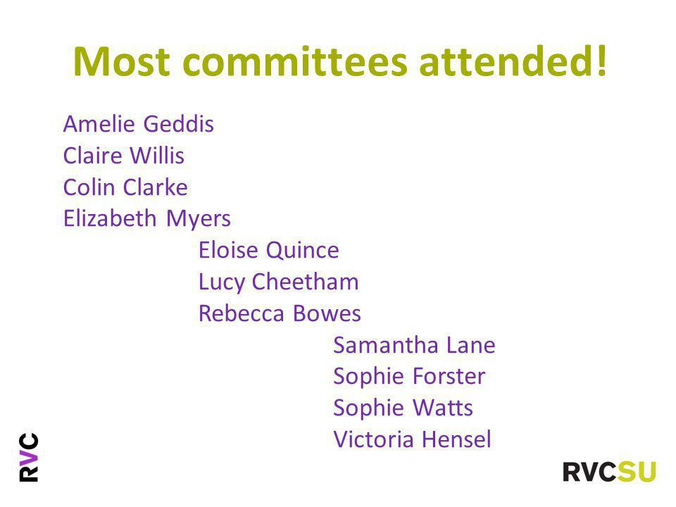 Most committees attended.