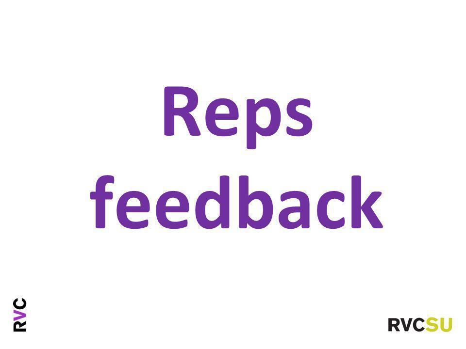 Reps feedback