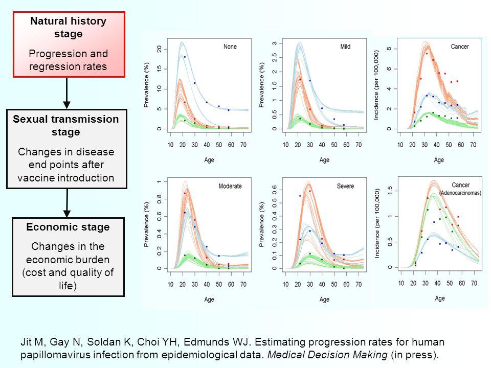 Jit M, Gay N, Soldan K, Choi YH, Edmunds WJ. Estimating progression rates for human papillomavirus infection from epidemiological data. Medical Decisi