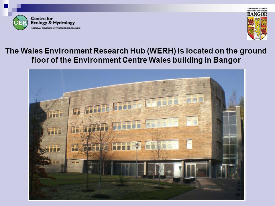 The Wales Environment Research Hub (WERH) is located on the ground floor of the Environment Centre Wales building in Bangor