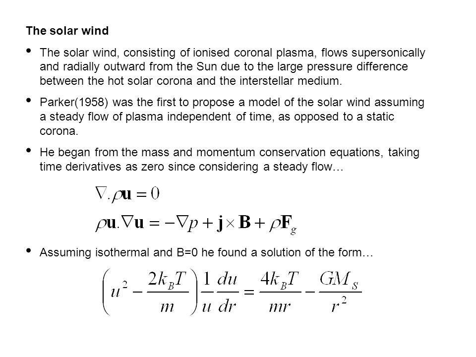 Possible solutions of the Parker solar wind equation