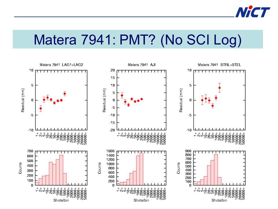 Matera 7941: PMT (No SCI Log)