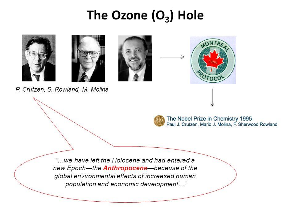 The Ozone (O 3 ) Hole P. Crutzen, S. Rowland, M.