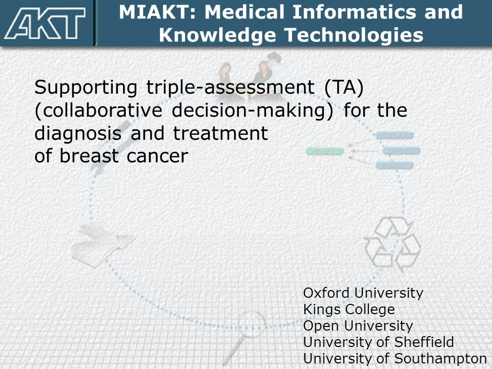 MIAKT: Medical Informatics and Knowledge Technologies Supporting triple-assessment (TA) (collaborative decision-making) for the diagnosis and treatmen