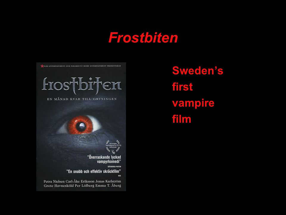 Frostbiten Sweden's first vampire film