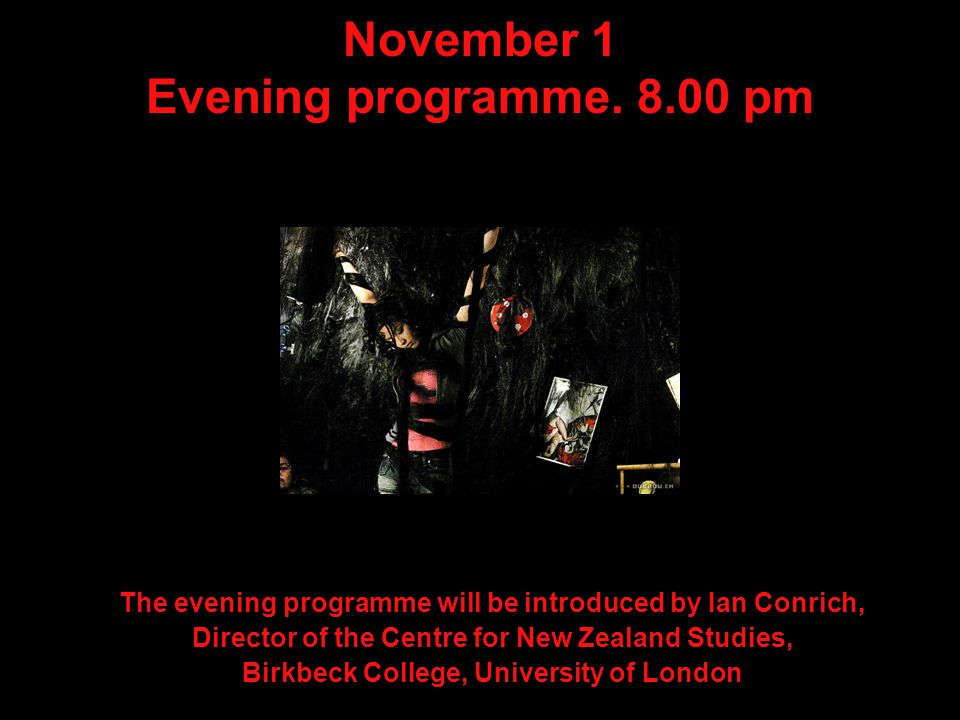 November 1 Evening programme.