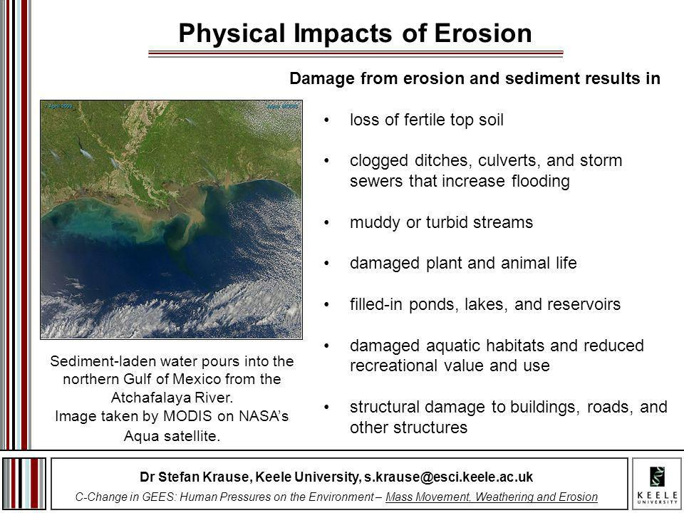 Dr Stefan Krause, Keele University, s.krause@esci.keele.ac.uk C-Change in GEES: Human Pressures on the Environment – Mass Movement, Weathering and Ero