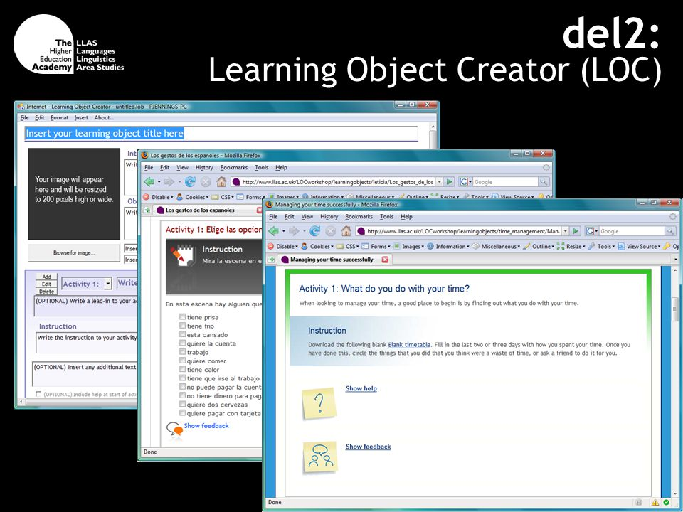 del2: Learning Object Creator (LOC)