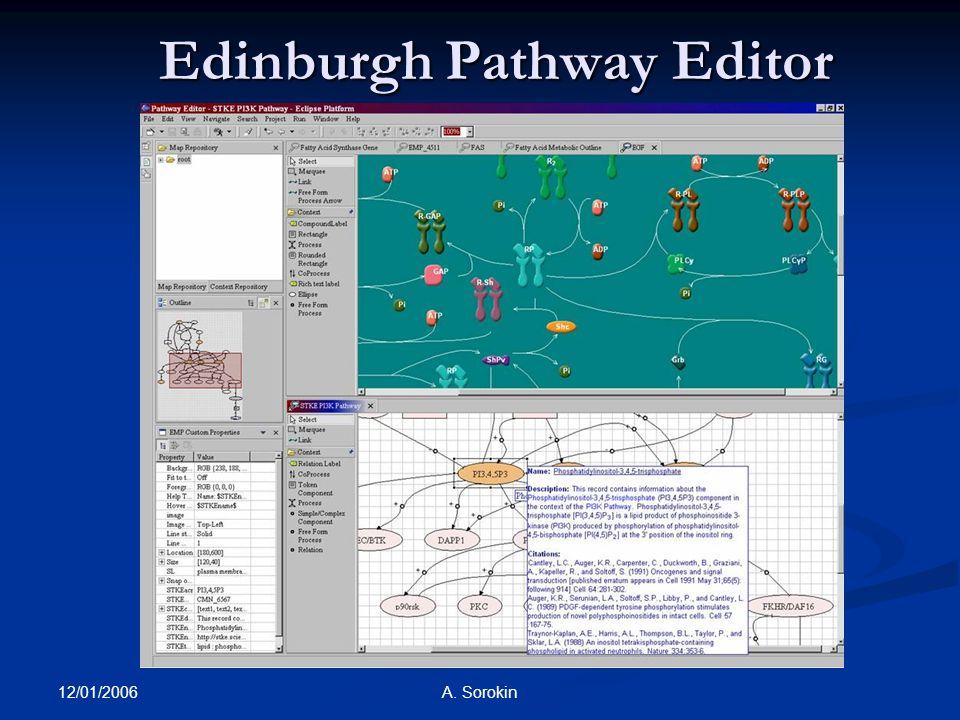 12/01/2006 A. Sorokin Edinburgh Pathway Editor