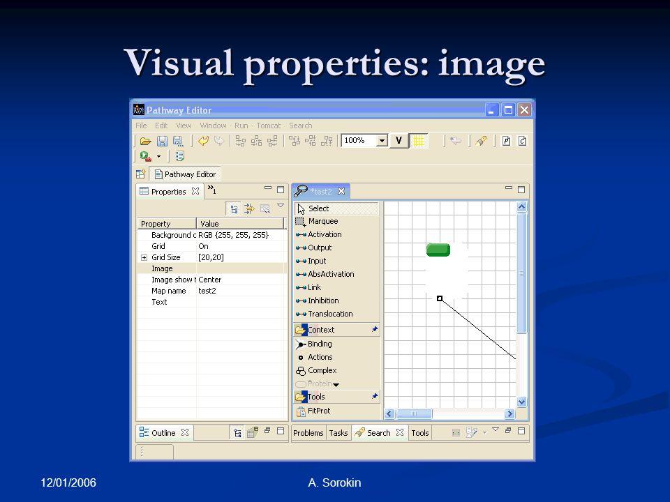 12/01/2006 A. Sorokin Visual properties: image