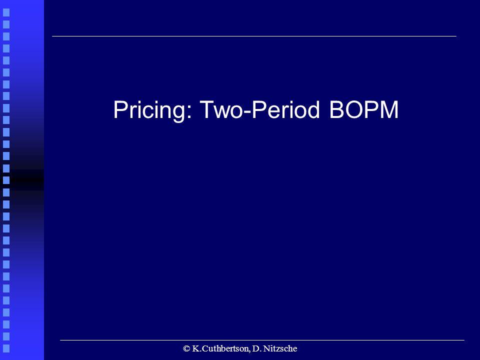 © K.Cuthbertson, D. Nitzsche Pricing: Two-Period BOPM