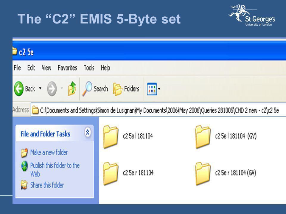 "The ""C2"" EMIS 5-Byte set"