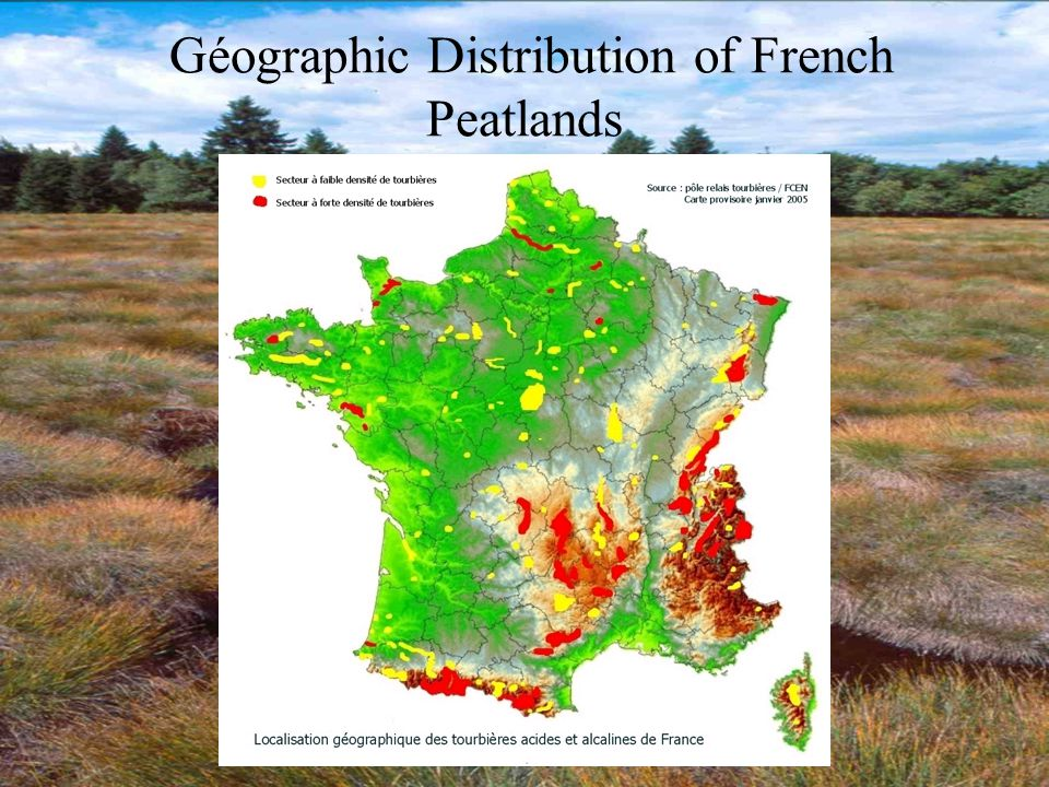 Géographic Distribution of French Peatlands