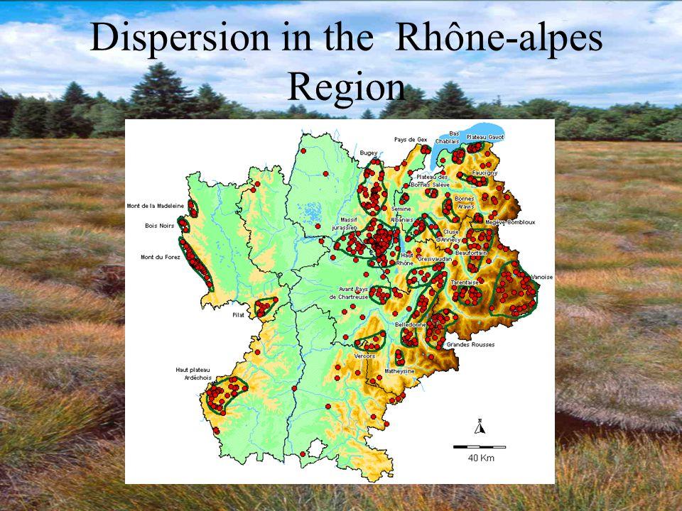 Dispersion in the Rhône-alpes Region