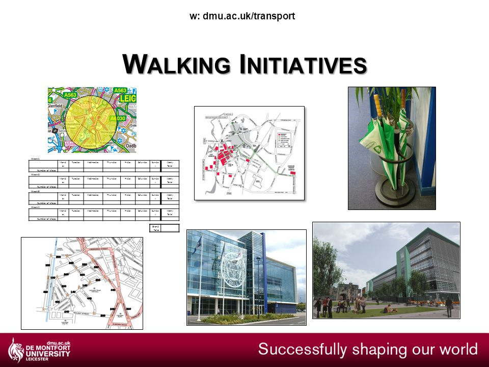 P ARK AND S TRIDE AND OTHER HANDY WAYS TO SUPPORT WALKING IN THE WORKPLACE