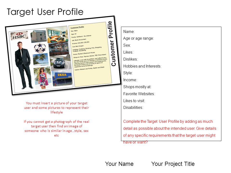 Client profile 20 year old man Other info He would like it to be different to most of the storage on the market.