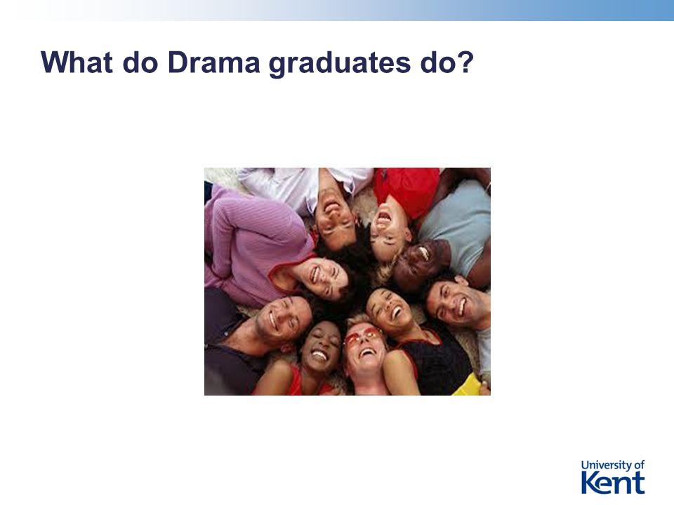 What do Drama graduates do