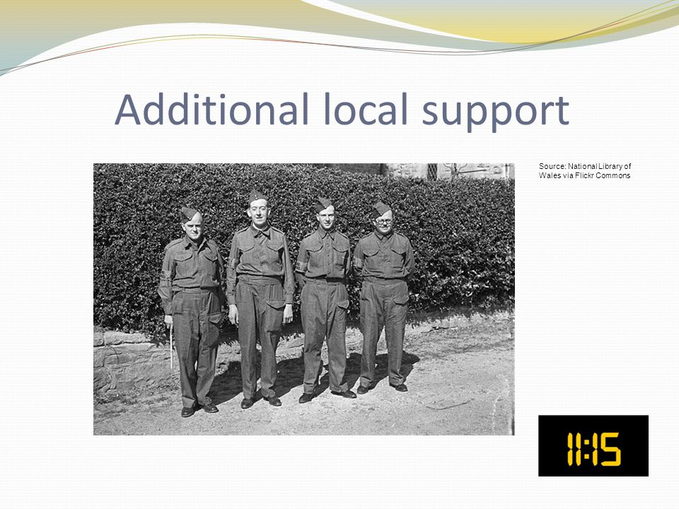 Additional local support Source: National Library of Wales via Flickr Commons