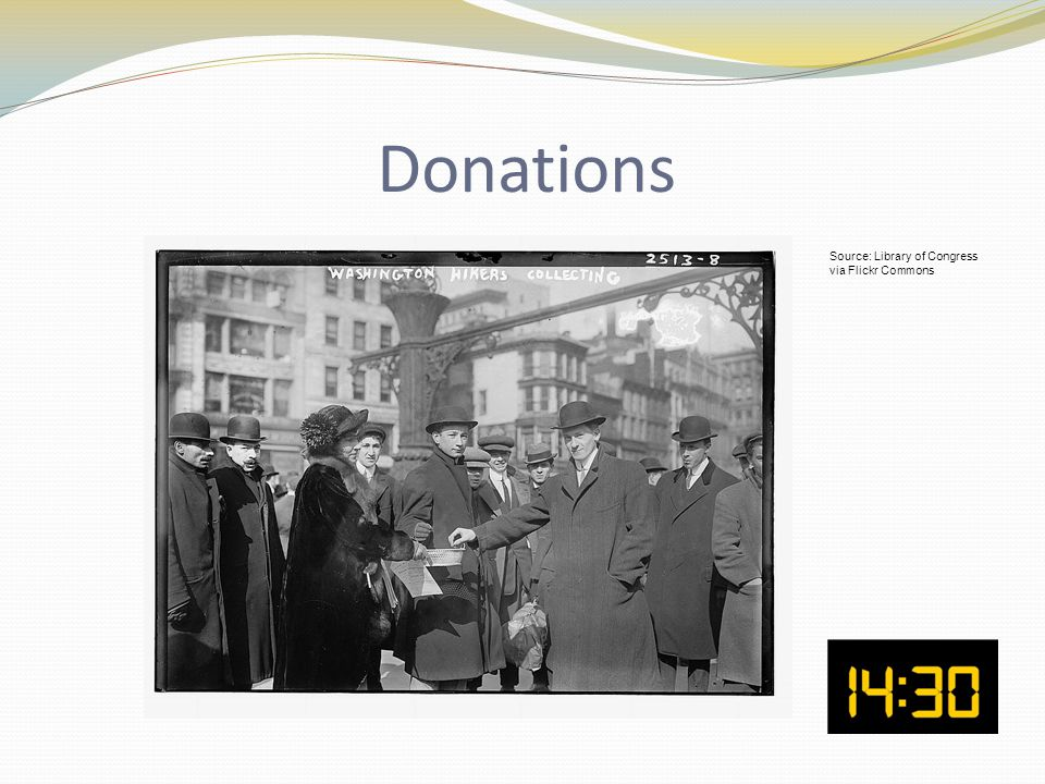Donations Source: Library of Congress via Flickr Commons