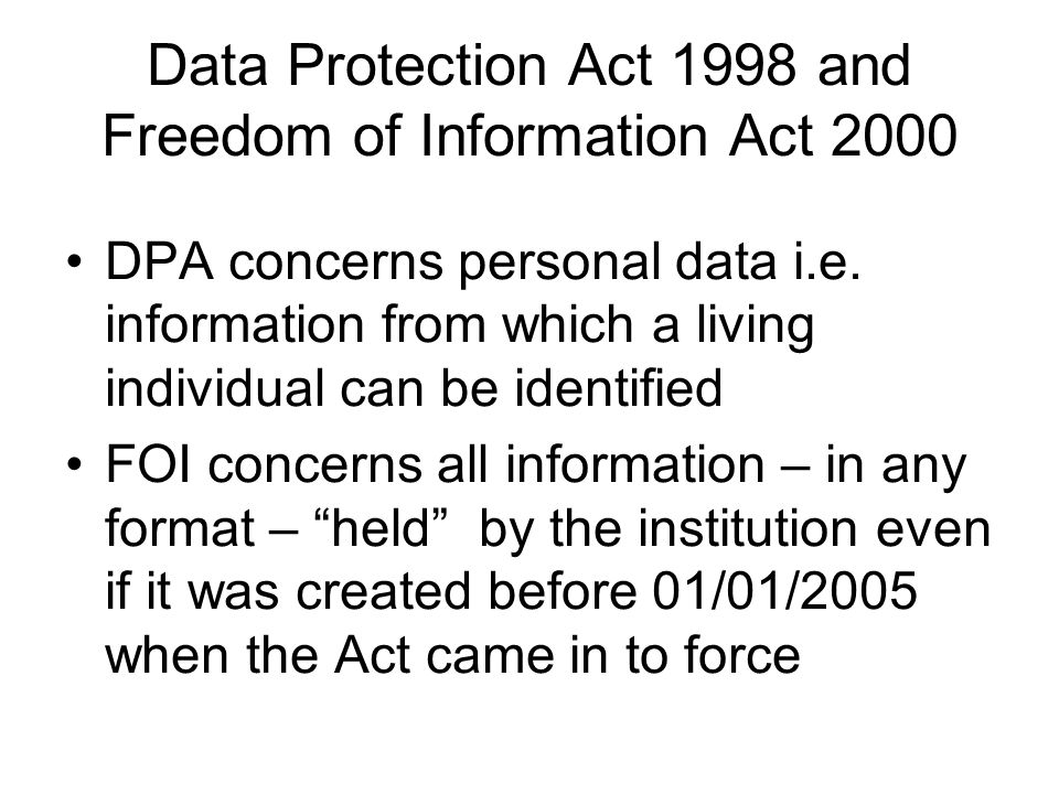 Research and the DPA Under Section 33 there are specific provisions in the Data Protection Act 1998 for the use of personal data in research Before using personal data in research, approval should be sought from the College's Research Ethics Committee as part of the application process When collecting data the specific purpose(s) for doing so must be stated Researchers should adopt a system of anonymous coding (pseudo-anonymisation) as the identity of data subjects must not be given away without consent Appropriate security should be in place and note that there may be restrictions on where data can be stored