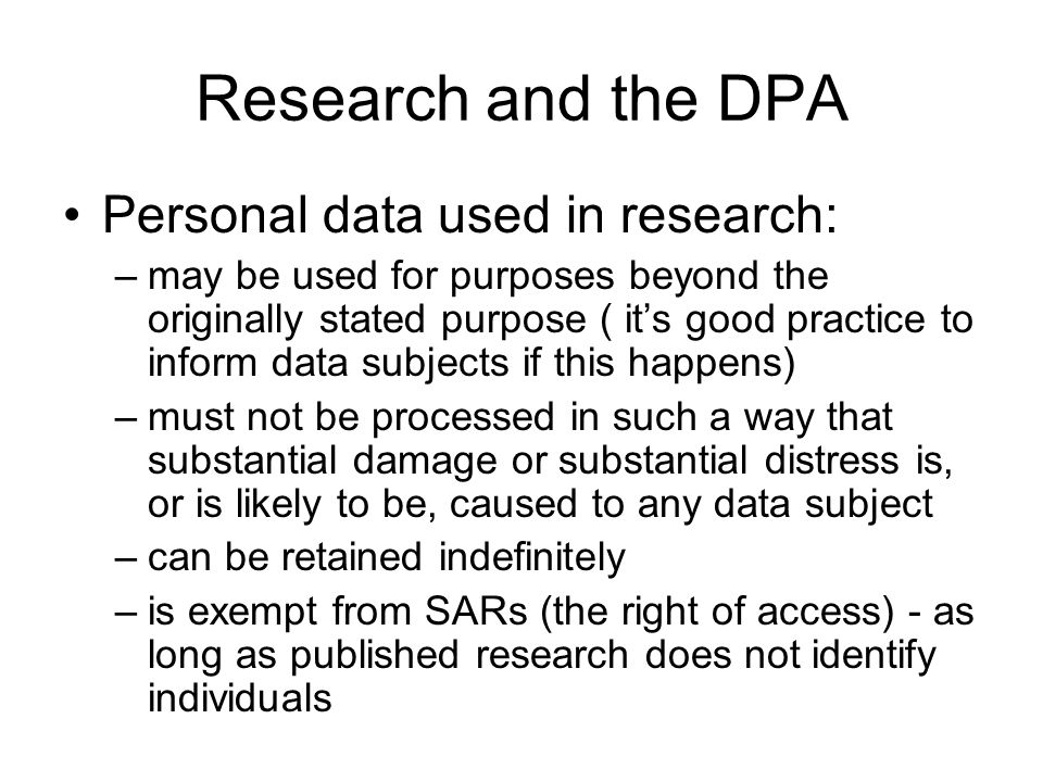 Research and FOI (and EIR) Be aware that research data and final reports may be subject to FOI requests If a request is received it must be notified to the Records & Information Compliance ManagerRecords & Information Compliance Manager Similar regime – Environmental Information Regulations 2004 – applied to any information connected to environment, from soil to emissions