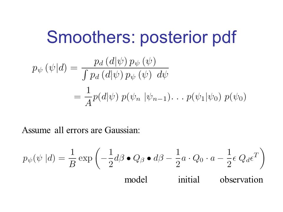 Smoothers: prior pdf