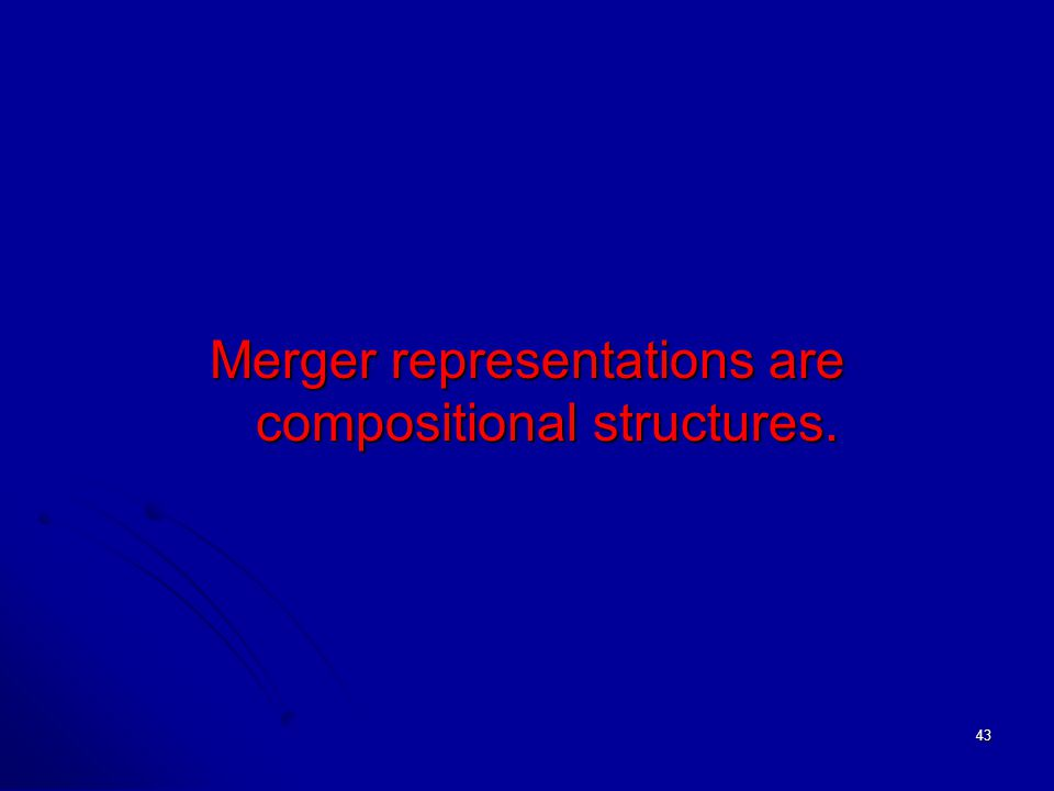 43 Merger representations are compositional structures.