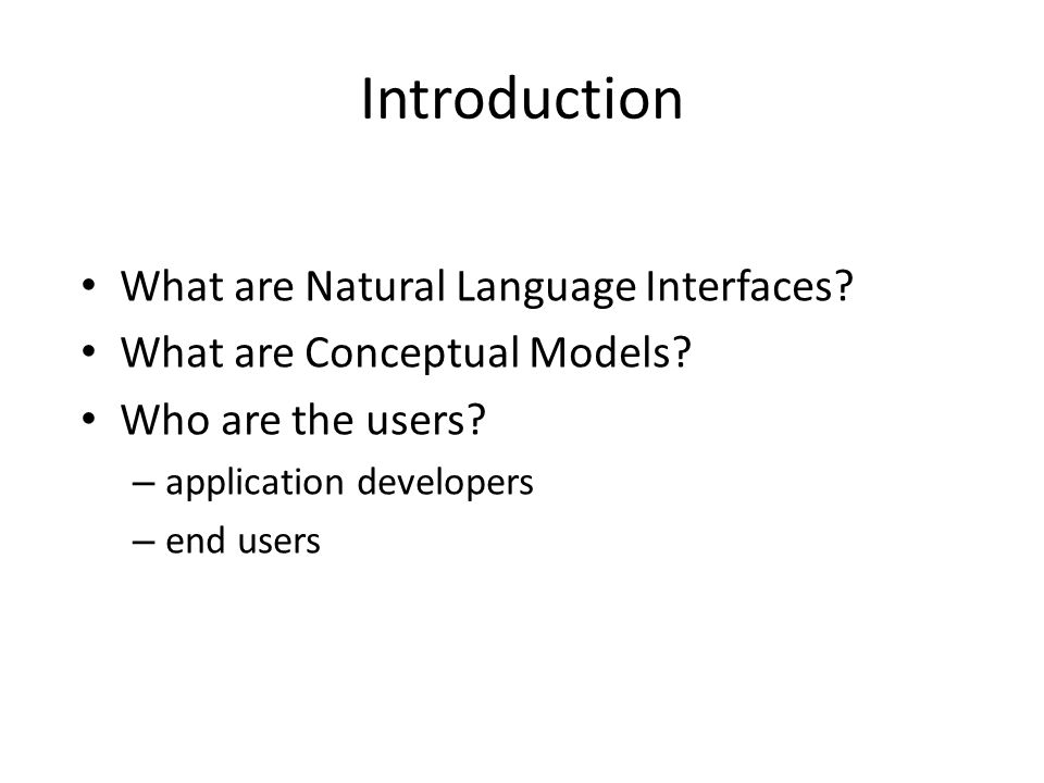 What are Natural Language Interfaces to Ontologies? 3