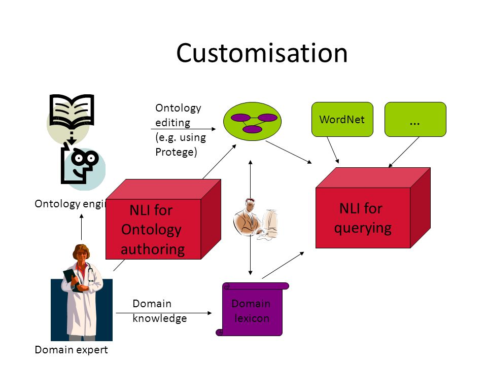 Customisation Ontology editing (e.g.