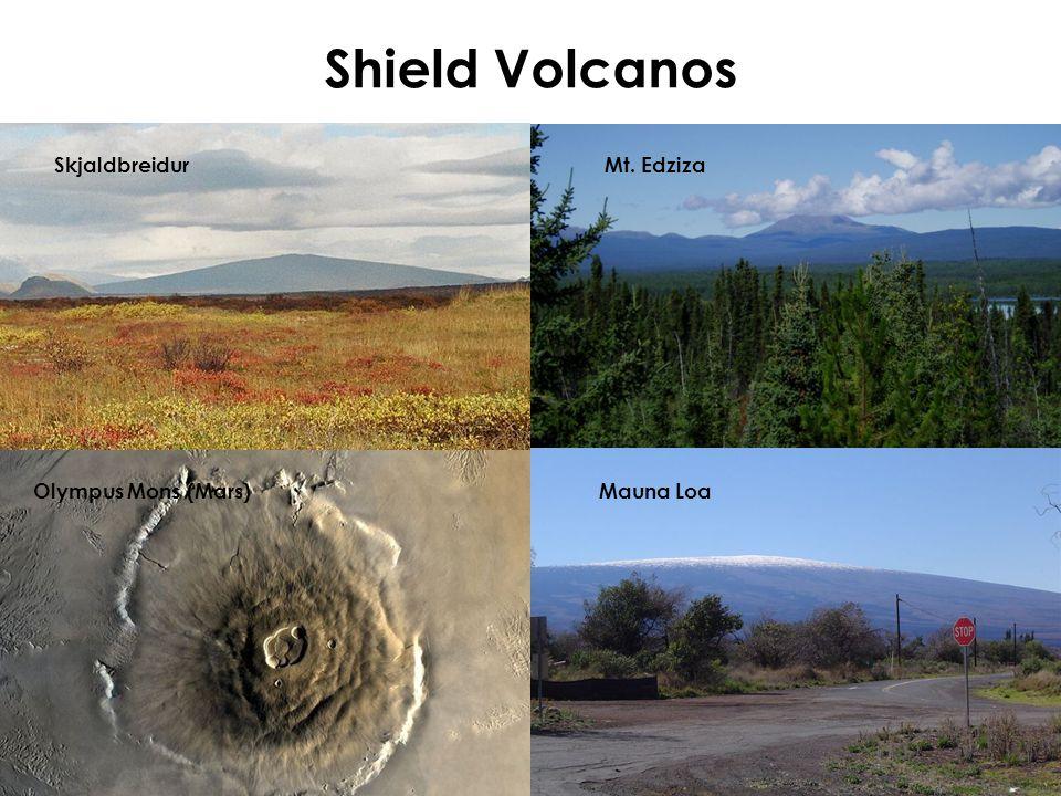 Shield Volcanos Olympus Mons (Mars)Mauna Loa SkjaldbreidurMt. Edziza