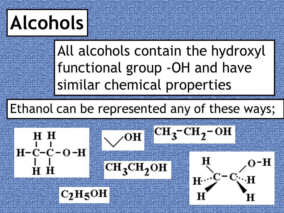 Naming Alcohols Full structure Skeletal formula formula Name Ethanol Propan-1-ol Propan-2-ol