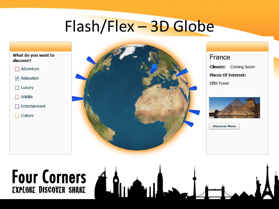 Flash/Flex – 3D Globe