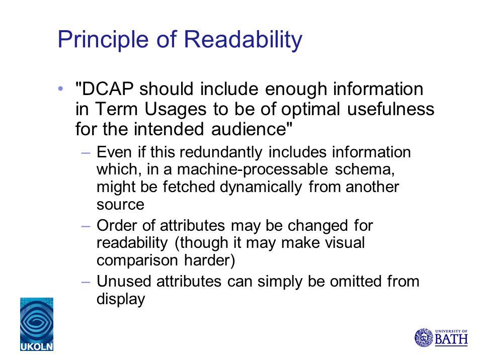 Principle of Readability