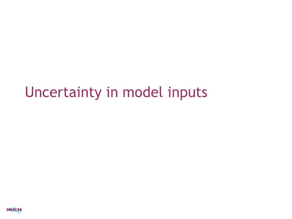 Uncertainty in model inputs