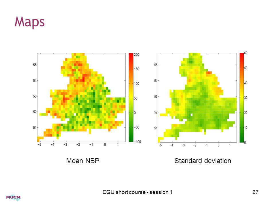 Maps EGU short course - session 127 Mean NBPStandard deviation