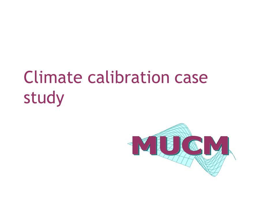Climate calibration case study